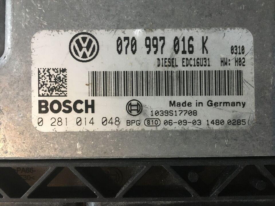 VW T5, 2,5 TDI Styreboks (motor)