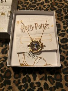 NWT-ALEX-AND-ANI-Expandable-Necklace-HARRY-POTTER-TIME-TURNER-SPINNER-32-In