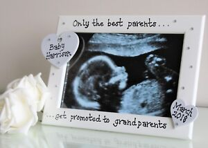 Personalised Ultrasound New Baby Scan Photo Frame Grand Parents