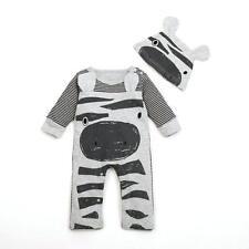 2017 Newborn Infant Baby Boy Girl Romper+Hat Jumpsuit Bodysuit Clothes Outfit 70