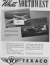 NORTHWEST AIRLINES 1940 2 PG WHAT NWA TOLD TACA AIRWAYS ABOUT TEXACO DC-3 AD