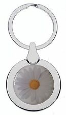 DAISY FLOWER CHROME KEYRING