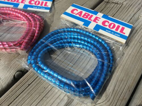 VINTAGE MUSCLE BIKE BICYCLE CABLE COVER WRAPS COIL METAL FLAKE 3 SPEED BANANA