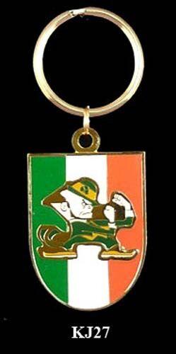 FIGHTING LEPRECHAUN IRELAND BRASS /& ENAMEL KEY RINGS
