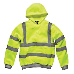 Leo Workwear Saunton SS02 HiVis Full Zip Hoodie Sweatshirt Class 3 Orange SniDir