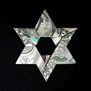 Money-Dollar-Origami-Jewish-STAR-of-DAVID-Charm-Amulet-Real-1-Bill-Hebrew-Gift