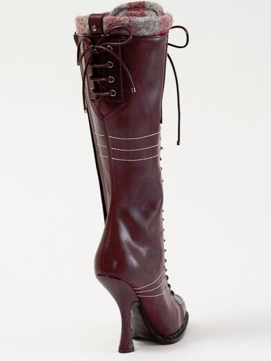 New Dior Montagne Burgundy Hand Made Leather Stiefel Stiefel Stiefel 37 US 7 0b5857