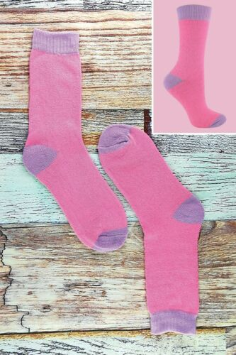 6 paires de Rose à Rayures Violet Polka Dot Style Femmes Chaussettes Thermiques