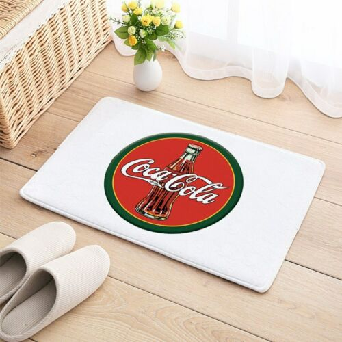 Coke Coca Cola Floor Carpet Mat Door Home House Natural Cotton Soft Drink pop