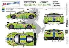 """[FFSMC Productions] Decals 1/32 Ferrari F-458 GT """"Krohn Racing"""" (LM 2012)"""