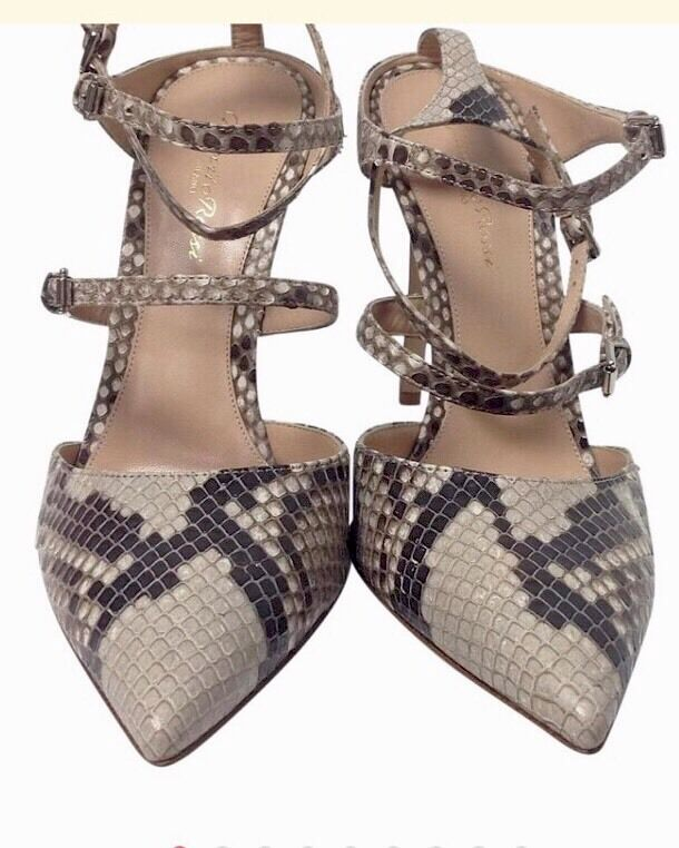 Gianvito Rossi Natural Snake Strappy  40 1 2 NEW