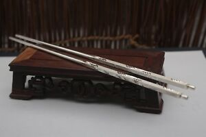 New-S999-Fine-Silver-Tableware-Lucky-Dragon-Square-Chopsticks-210x4mm-49-98g