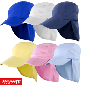 e469f071 Result LEGIONNAIRE HAT KIDS BOY BEACH CAP SUN PROTECTION NECK EARS ...