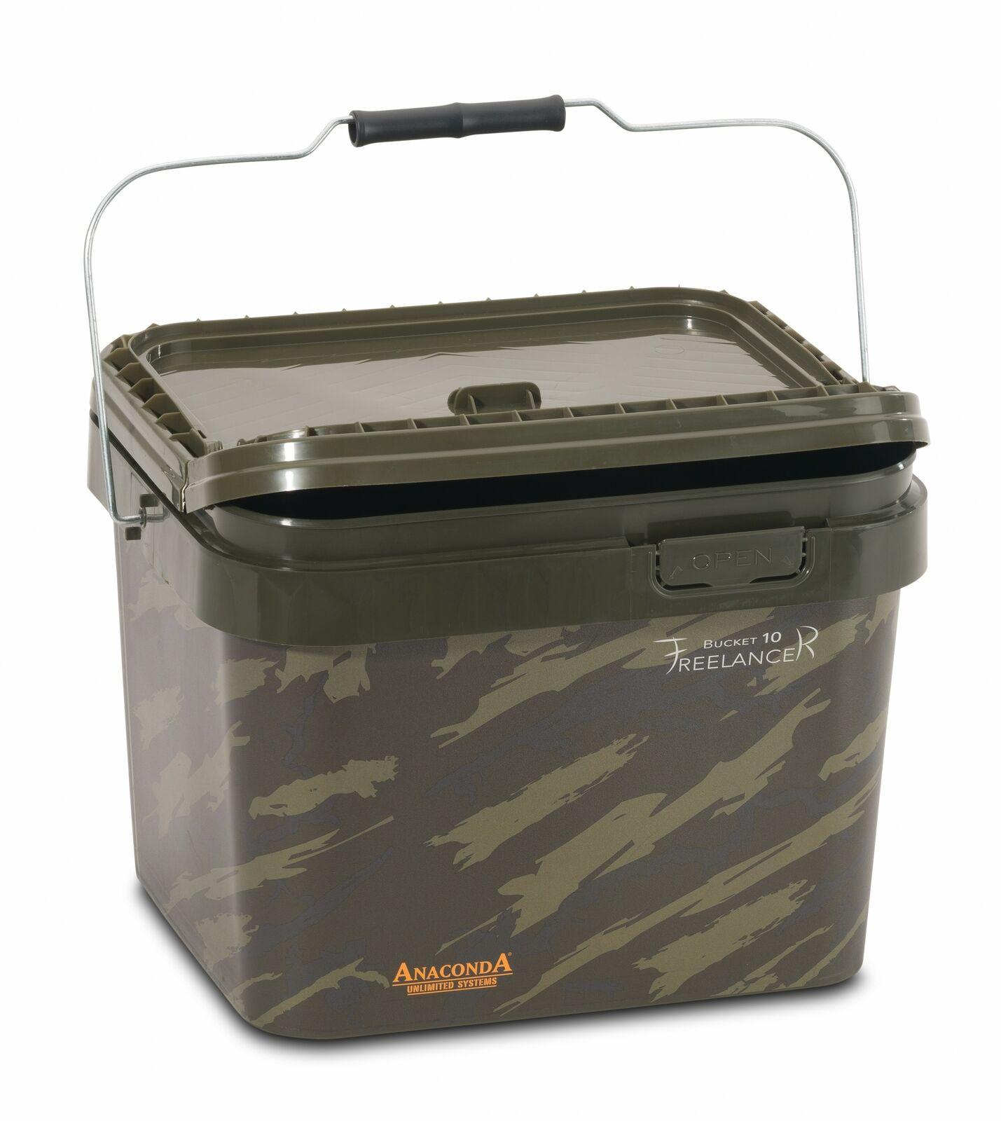Anaconda Freelancer Bucket 10 l Square Eimer Behälter Karpfen Boilies Futter