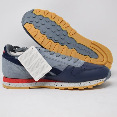 Rojo Azul Mens y Shoes Classic Gris Reebok Bd1928 Leather a6vxwq4