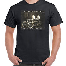 William Harley & Arthur Davidson on Their Motorcycles in 1915, T-Shirt, NWT