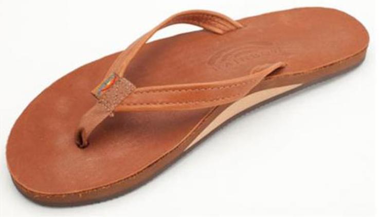 Rainbow Sandals altsn 301 Tamaños De Cuero Tostado de una sola capa de mujer S-L11 NEW