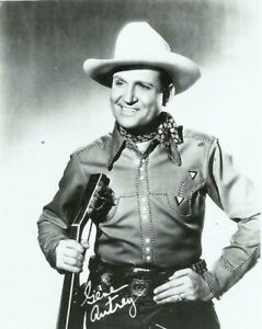 Gene Autrey Singing Cowboy Western Actor Movie Star Singer 1950s Promo Photo