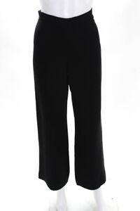 Giorgio Armani Para Mujeres Cintura Alta Acampanados Pierna Ancha Pantalones De Vestir Negra Talla 38 Euros Ebay