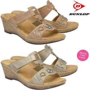 Ladies-Memory-Foam-Wedge-Heel-Walking-Flip-Flops-Summer-Strappy-Sandals-Shoes
