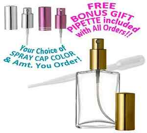 c1864e5d43ed Details about Refillable Perfume Spray Bottle Empty Glass Atomizer Flat  Shape 1 Oz / 2 Oz