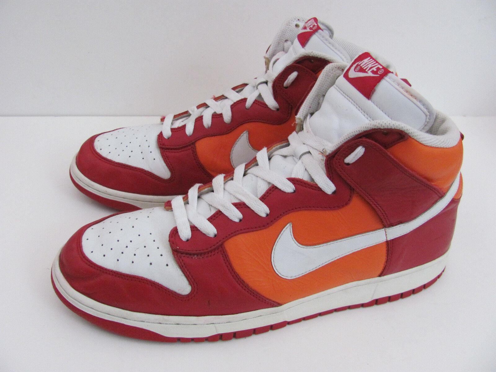 Nikedunk rojo naranja cómodos alta zapatos de baloncesto, cómodos naranja zapatos nuevos para hombres y mujeres, el limitado tiempo de descuento b013a0
