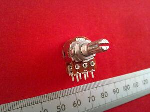 Linear Taper Estriado Eje Doble Lin B Mezclador Pot Estéreo potenciómetro 16mm