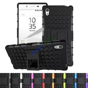 Shockproof-Hybrid-Gel-Rubber-Rugged-Armor-Case-Stand-Cover-For-Sony-Xperia