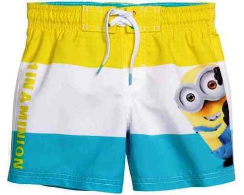 Boys Colourful MINION Swimming Shorts 1IN A MINION BNWT