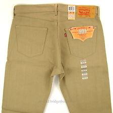 Levis Men's 501 Original SHRINK TO FIT Jeans BEIGE 36 X 30 Button Fly Levi's STF
