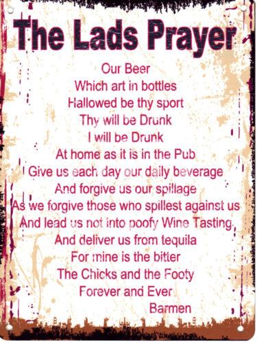 THE LAD/'S PRAYER METAL SIGN  RETRO VINTAGE STYLE.man cave,garage,shed,pub,bar