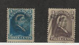Newfoundland-Postage-Stamp-49-52-Used-1880-96-Queen-Victoria