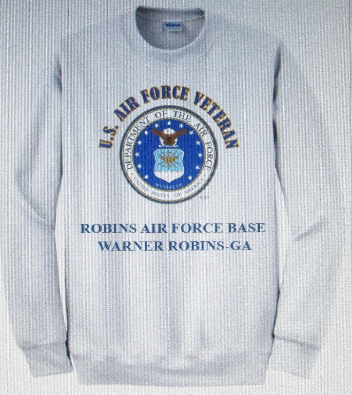 ROBINS AIR FORCE BASE  WARNER ROBINS-GA  AIR FORCE EMBLEM VETERAN SWEATSHIRT