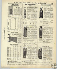 1937 PAPER AD 4 PG Pyrene Guardene Essanay Fire Extinguishers Specs Hydrants