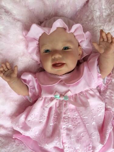 Bambola morbida realistico KIT Susie COMPLETO DISCO arto corpo Occhi Blu Rosa manichino.