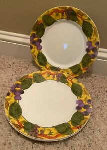 Corning-Corelle-TUSCAN-VINE-8-1-2-034-Luncheon-Plates-Set-of-3-BARELY-USED