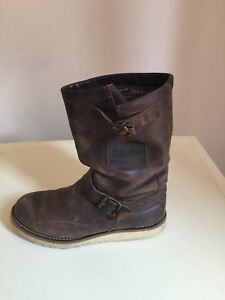 On Uk Ankle Tamaris Women Pull Leather Distressed 5 Size Brown Boots OWw4caqZ