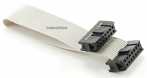 FR-1406 6 inch 14-Pin 2x7-Pin 2.54-Pitch Female 14-Wire IDC Flat Ribbon Cable