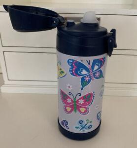 Pottery Barn Kids Butterfly Water Bottle Missing Straw