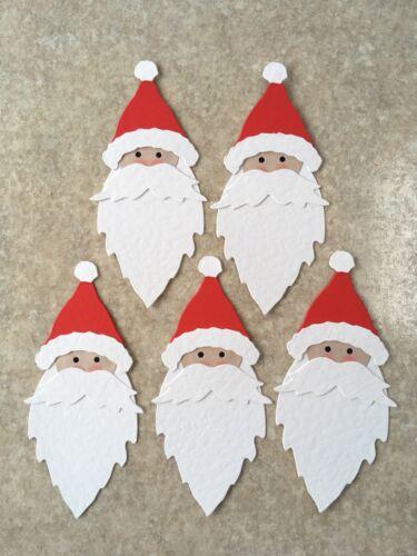 5 SIZZIX  LARGE SANTA HEADS FATHER CHRISTMAS READY ASSEMBLED