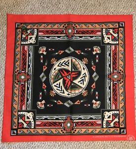 New-Vintage-Wamcraft-Bandana-Handkerchief-Scarf-USA-Southwest-Red-doo-rag