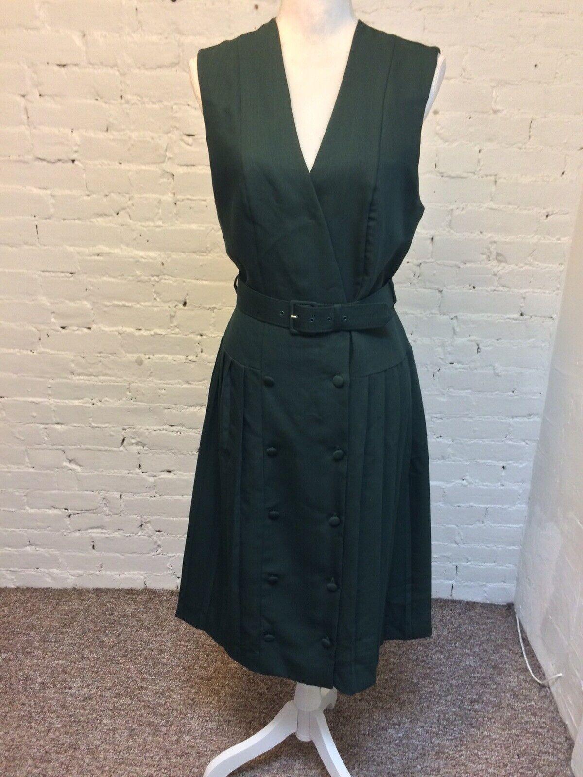 Laura Ashley Vintage 90s Sleeveless Sheath Dress … - image 1