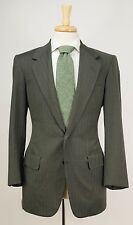 Bespoke OXXFORD 'Nobleman's Hallmark' Green Plaid Check Wool Suit 38 S R