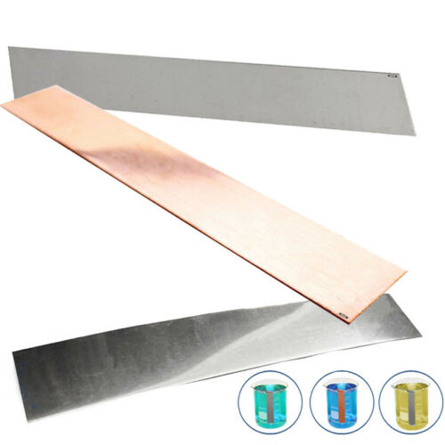 """Plating Anode Set of Copper Nickel Stainless Steel 1/""""x 6/"""" Jewelry Electroplating"""