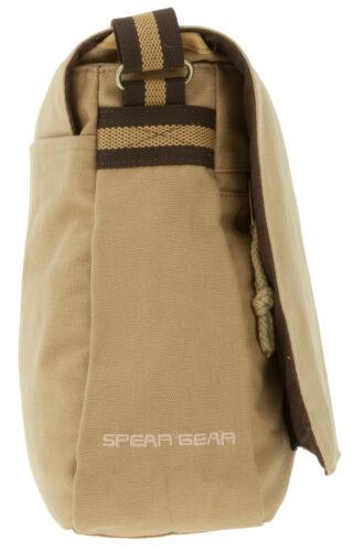 Tasche SPEAR DIN A4 Kuriertasche Canvas Canvastasche Tasche Schultertasche CAMEL