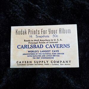 Vintage Carlsbad Caverns Lot of 14 Black & White Kodak Prints Souvenir Pack