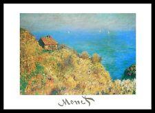 Claude Monet Fischerhütte bei Varengeville Poster Kunstdruck und Rahmen 24x30cm