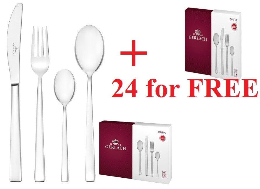 68 pcs Set de couverts à manger ustensiles vaisselle cadeau cantine Gerlach + 24 gratuit