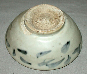 Original-Antique-16c-Chinese-Ming-Dynasty-Blue-amp-White-Porcelain-Bowl