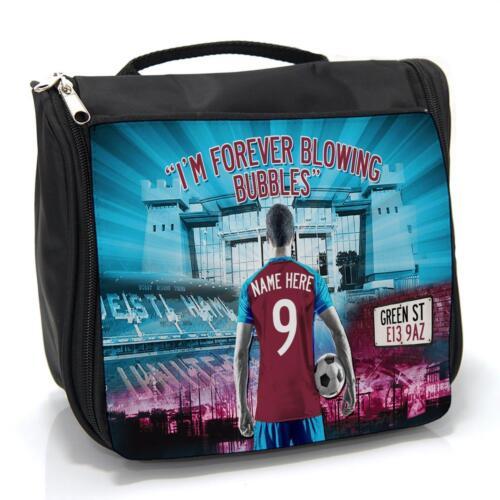 AF131 West Ham Fútbol Bolsa De lavado para hombre Aseo Grooming caso Personalizado